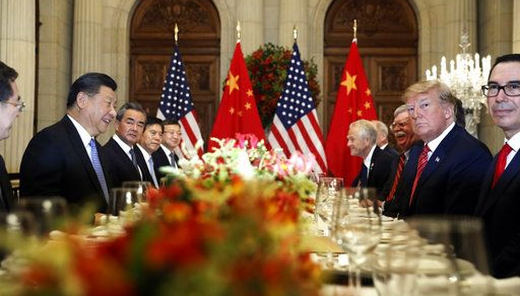 President Donald Trump and China's President, Xi Jinping, attend their bilateral meeting at the G20 Summit in Buenos Aires on Dec. 1, 2018. (AP Photo/Pablo Martinez Monsivais)