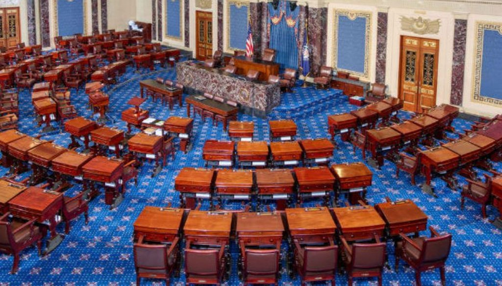 The U.S. Senate chamber (Wikimedia commons)