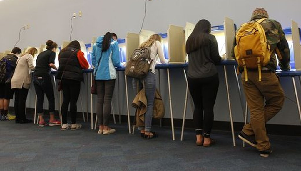 Voters cast their ballots at the University of Wisconsin-Milwaukee on Nov. 8, 2016, an election that spurred a recount. (Milwaukee Journal Sentinel/Pat A. Robinson)