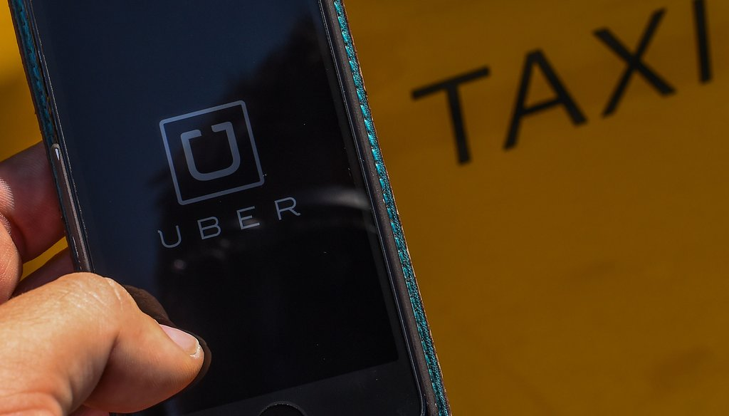 Ride-share services like Uber do not operate like traditional tax services. File photo by Getty Images.