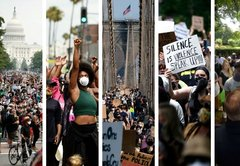 How George Floyd protests evolved in 5 major cities
