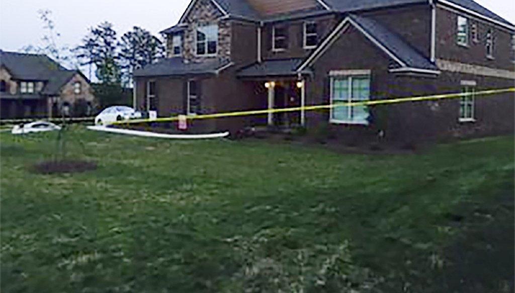A longtime acquaintance of Clayton County Sheriff Victor Hill was shot in the abdomen May 3 inside this Lawrenceville model home. The victim and Hill were the only two inside when the shooting happened. Photo by Channel 2 Action News