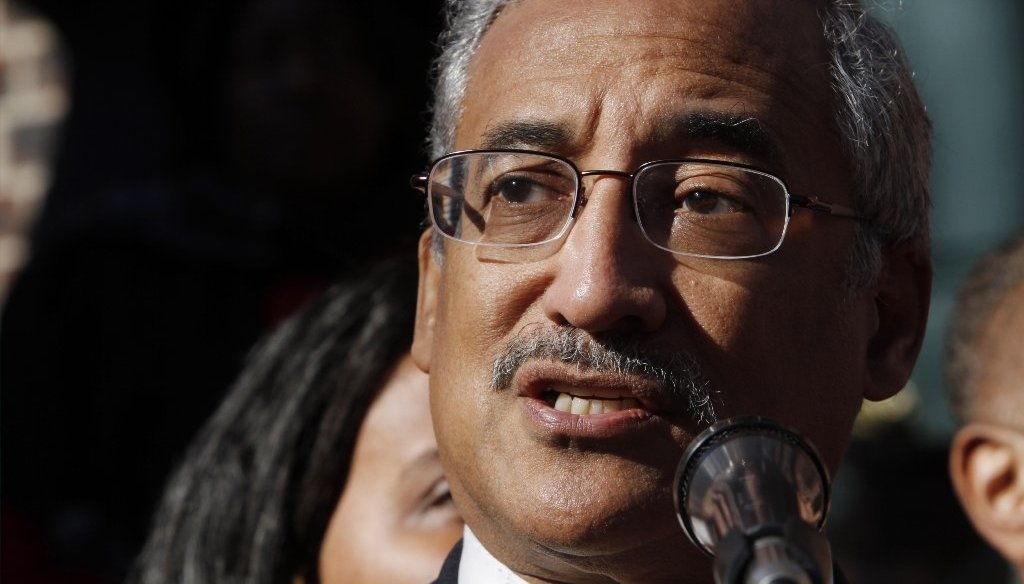 Rep. Bobby Scott often cites income equality in his calls to raise the minimum wage and increase taxes on the wealthy. (Photo by AP)