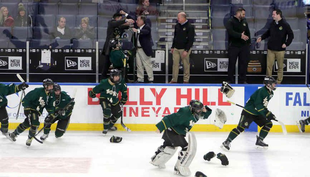 Gov. Andrew Cuomo announced that higher risk sports, such as ice hockey,  can resume. (John Hickey/Buffalo News)