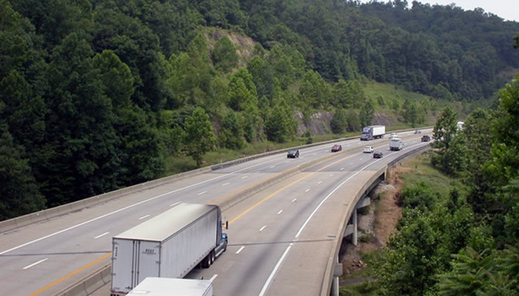 The West Virginia Turnpike in Fayette County. (Creative Commons)