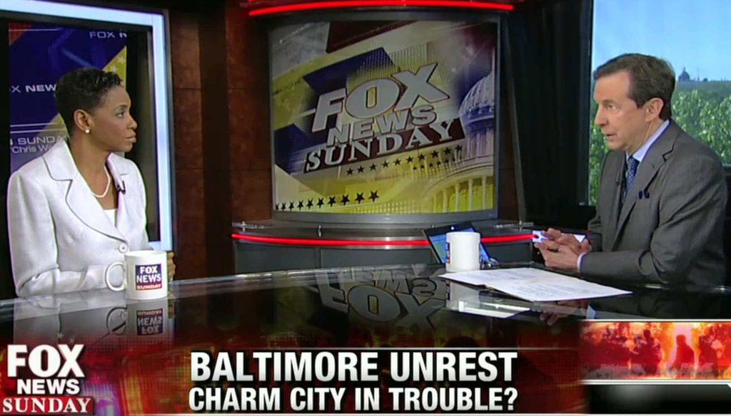 Fox News Sunday host Chris Wallace interviews Rep. Donna Edwards, D-Md., about the causes of the unrest in Baltimore.