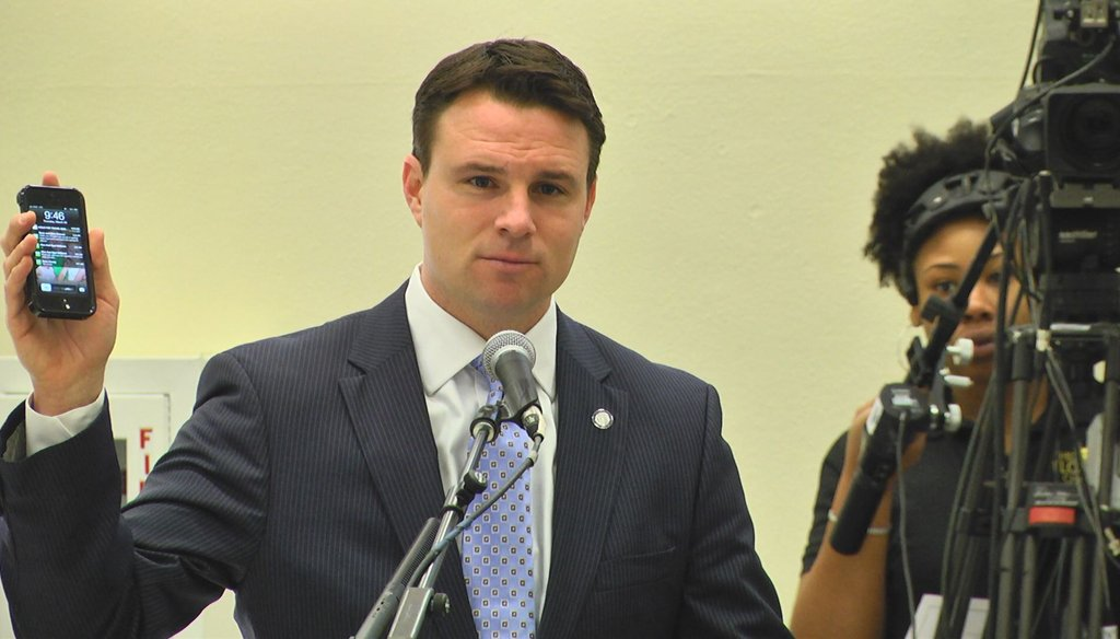 House Speaker Will Weatherford said students are paying more for cell phones than they are for tuition. Photo courtesy WTSP.