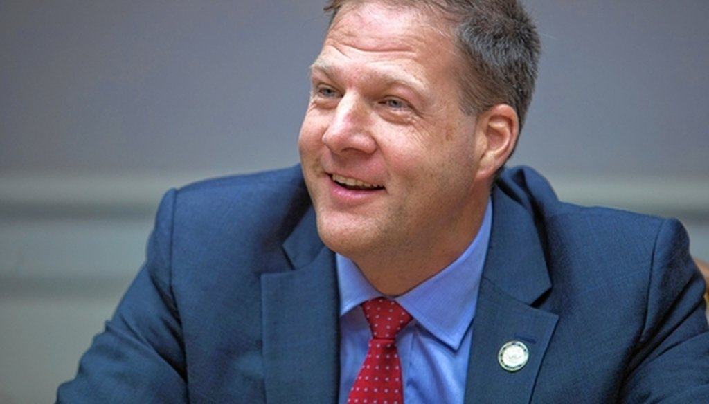 Chris Sununu talks to Concord Monitor editorial board