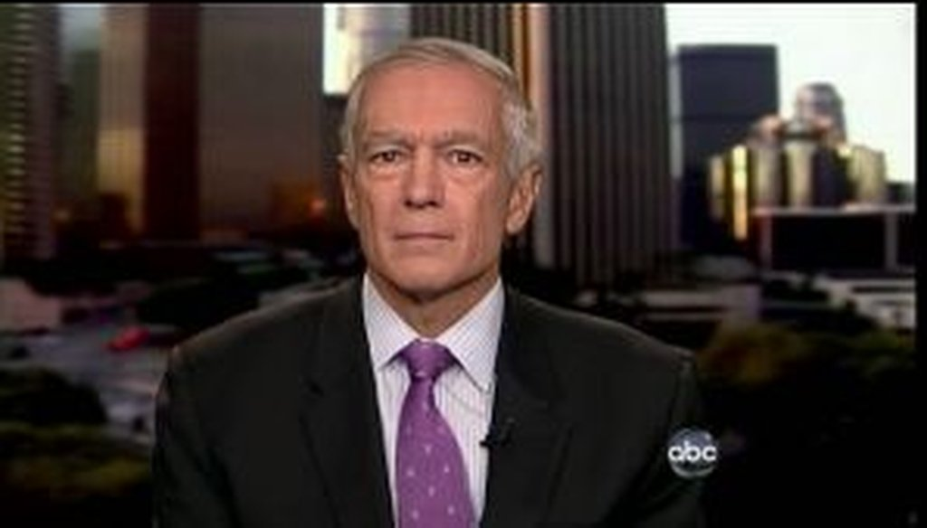 """On ABC's This Week, retired Gen. Wesley Clark cited a Pentagon report to argue that service members aren't worried about ending the military's """"Don't Ask, Don't Tell"""" policy. But we found that his description was a bit off."""