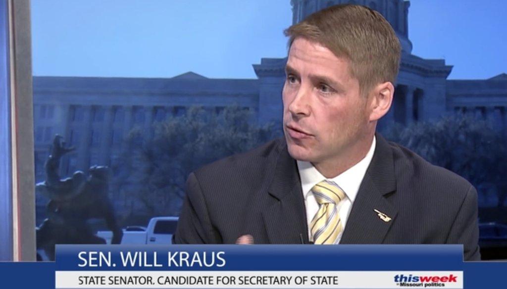 "Missouri state Sen. Will Kraus, a Republican, discussed voter ID requirements on ""This Week in Missouri Politics."""