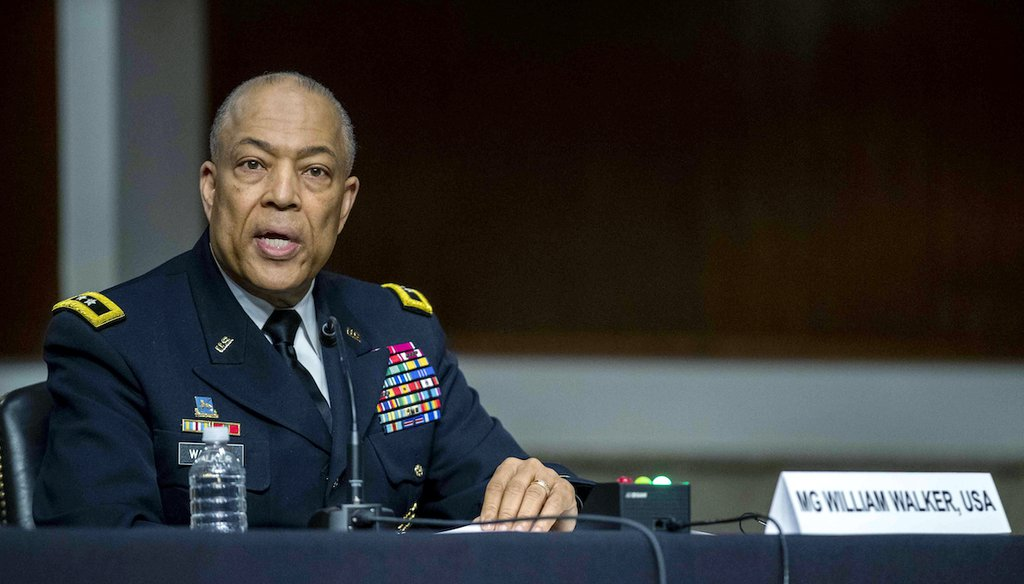 Maj. Gen. William J. Walker, commanding general of the D.C. National Guard, testifies at a hearing examining the Jan. 6 storming of the U.S. Capitol on March 3, 2021. (AP)