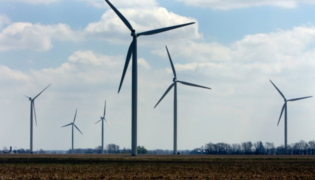 Wind turbines at the Harvest Wind Farm in Oliver Township, Mich. (Associated Press)
