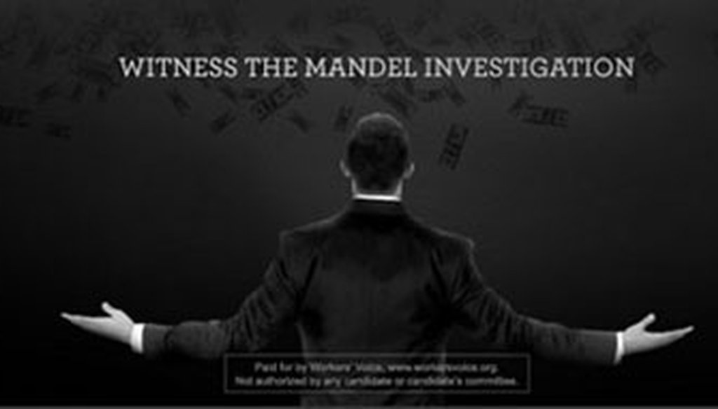 "This campaign ad published online by the PAC Workers' Voice that targets Josh Mandel parodies Nike's ""We are all witnesses"" campaign that featured LeBron James."