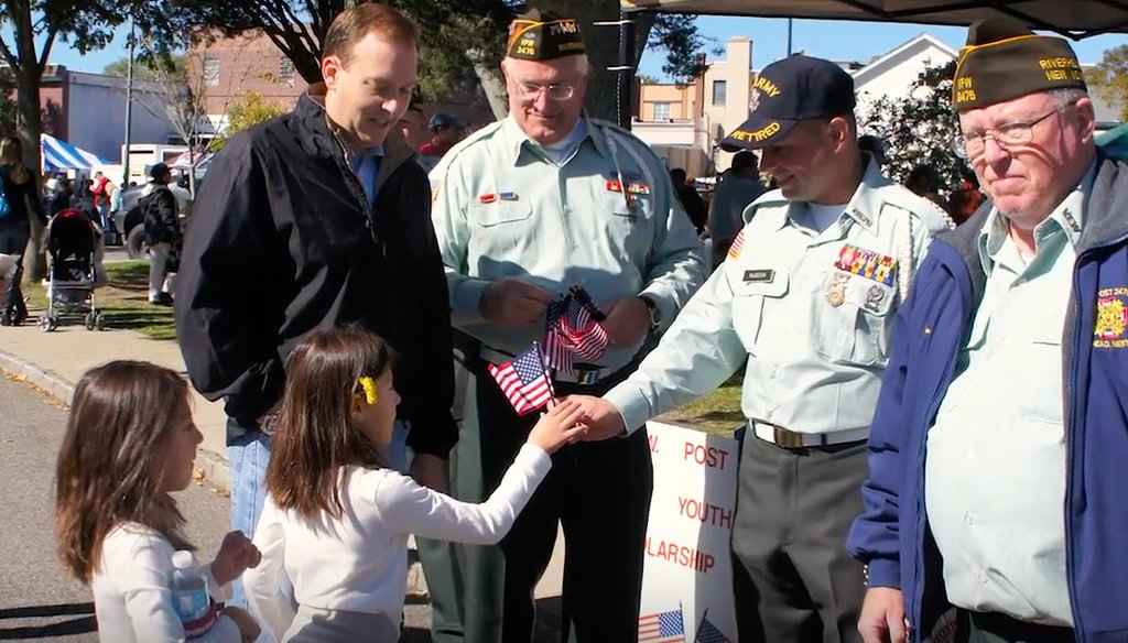 Congressman Lee Zeldin stands with veterans. (Courtesy: Zeldin's Office)