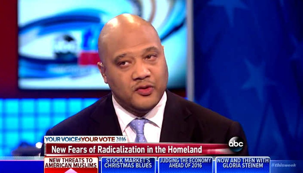 Rep. André Carson, D-Ill., said the threat from racial supremacist groups is greater than from jihadists. (Screengrab)