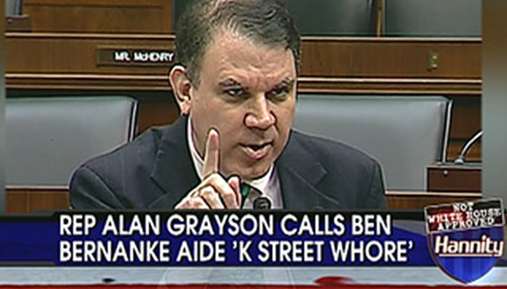 Former U.S. Rep. Alan Grayson, D-Orlando, announced he will run for Congress in 2012.