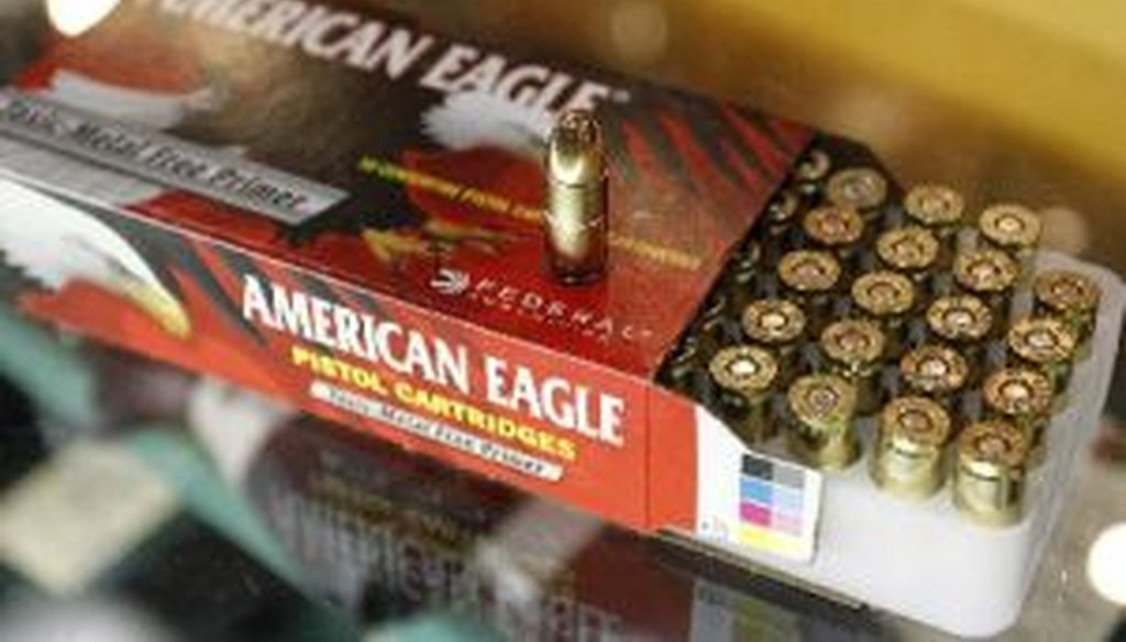 This is a box of 9mm rounds at Bill Jackson's sporting goods in Pinellas Park, Fla. Will bullets like these become rarities due to the closure of a Missouri smelter? We check a claim on that concern made by former Rep. Allen West, R-Fla.
