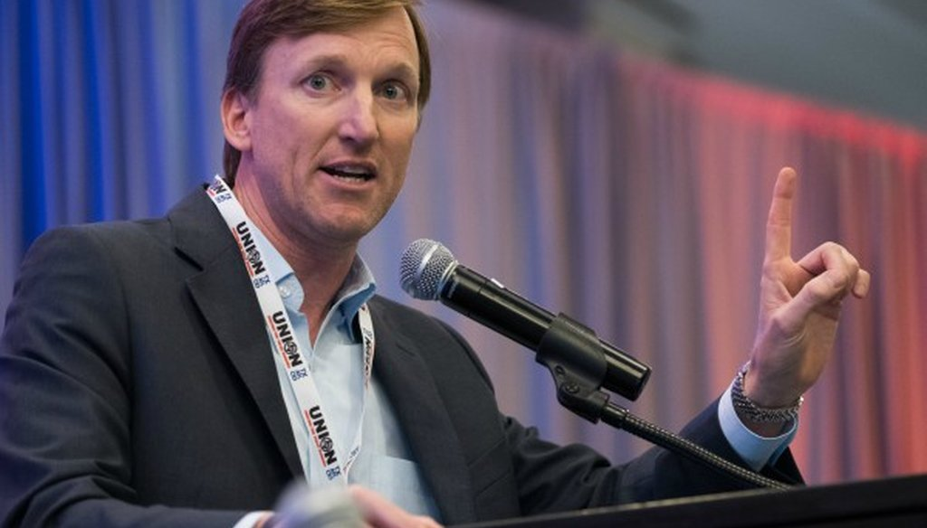 Andrew White, shown here at an Austin gathering in January 2018, separately said a large number of Texas school districts don't offer sex education. HALF TRUE, PolitiFact Texas found (MARK MATSON, for the Austin American-Statesman).