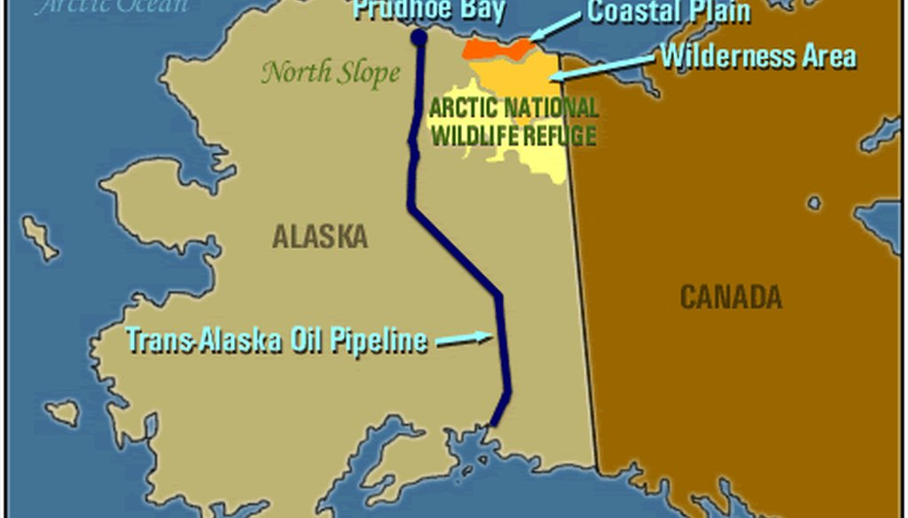 The Arctic National Wildlife Refuge is located in Alaska's northeast corner. Photo courtesy PBS.org.