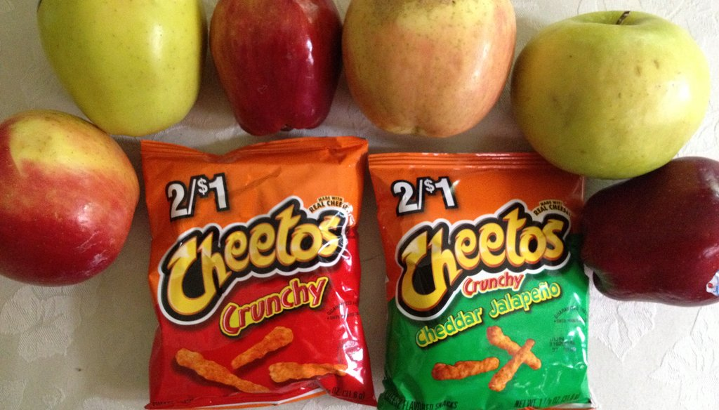 The price, quality and availability of fresh produce became a debating point when the state Assembly considered requiring food stamp recipients to buy more healthy foods. Skeptics said snack items such as Cheetos are cheaper than apples in Milwaukee
