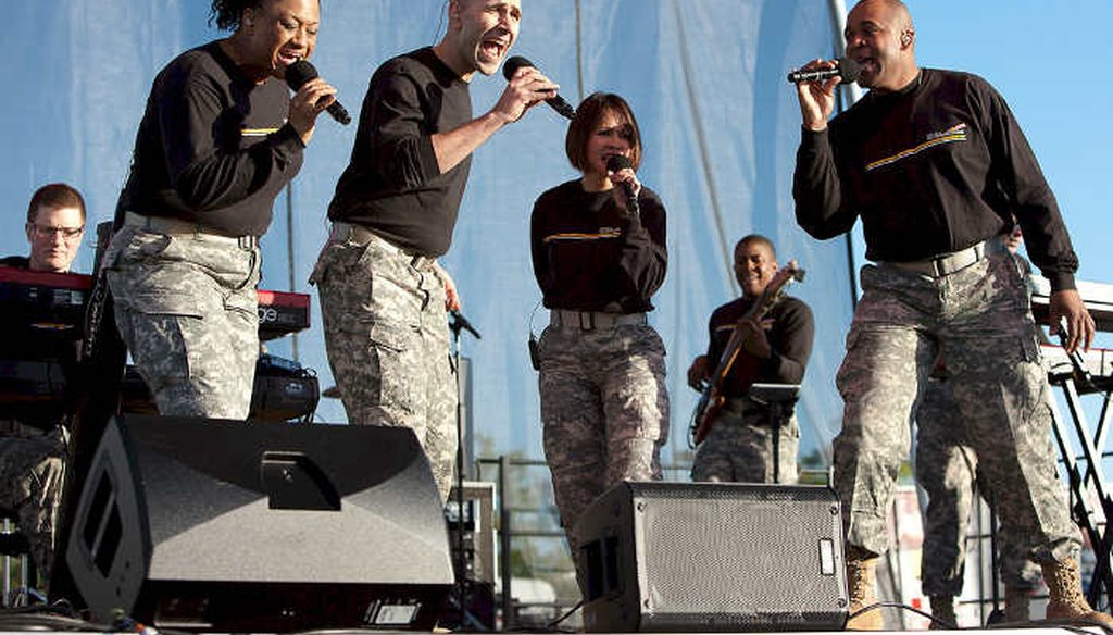 Members of The U.S. Army Band Downrange perform at the National Cherry Blossom Festival in Washington D.C. (U.S. Army)