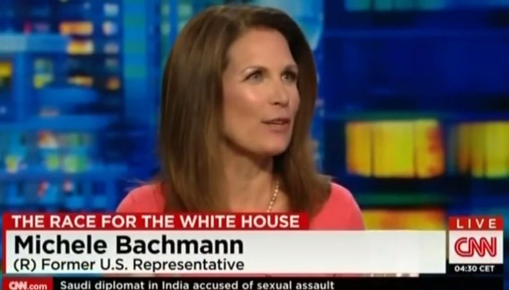 Conservative commentator Michele Bachmann discusses Donald Trump's appeal with Don Lemon on CNN on Sept. 10, 2015. (Screengrab)