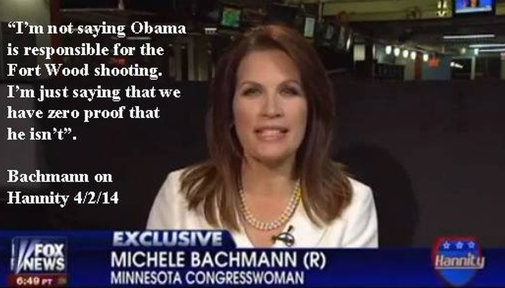 The meme was shared on the Facebook group Christians for Michele Bachmann.