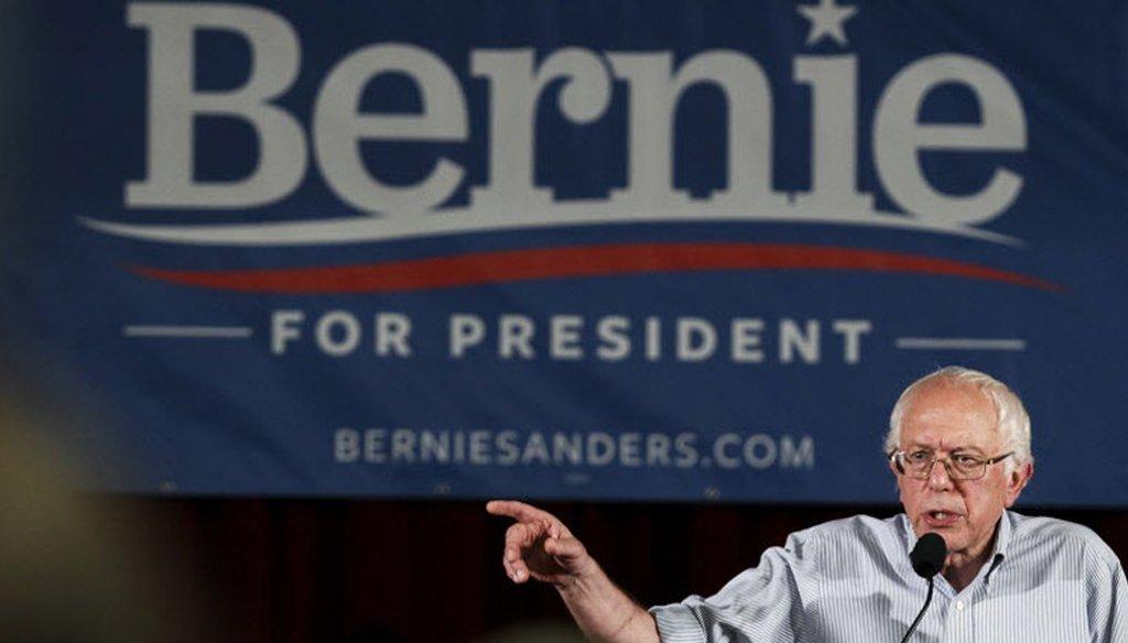 Bernie Sanders in Salem, N.H. Aug. 23