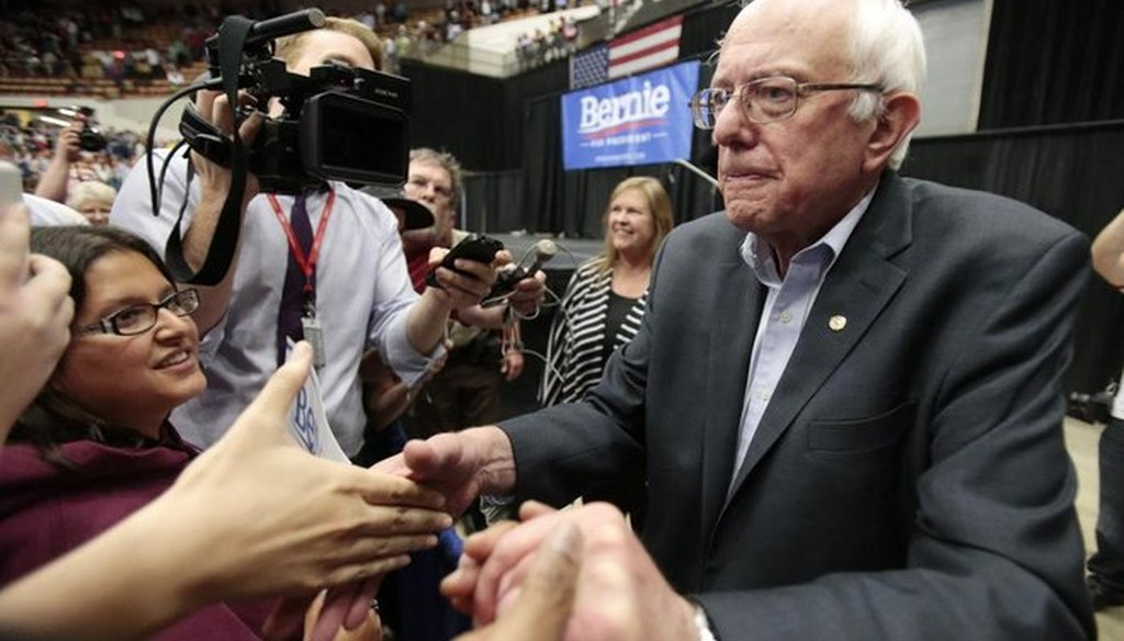 Sen. Bernie Sanders, I-Vt., says he is considering challenging Hillary Clinton in 2016. (Getty)
