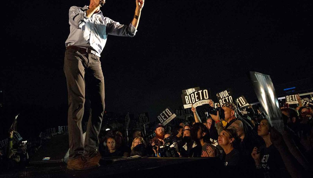 Beto O'Rourke speaks at rally in Austin on Sept. 30, 2018. (NICK WAGNER/AUSTIN AMERICAN-STATESMAN)