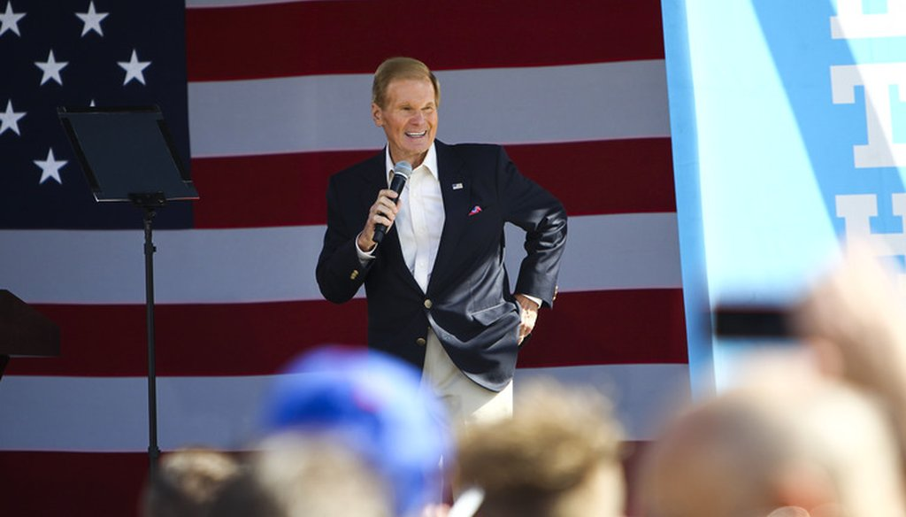 Senator Bill Nelson, photographed in Dade City on Nov. 1, 2016, pushed to defeat a bill to expand revenues for states related to oil drilling. (Tampa Bay Times)