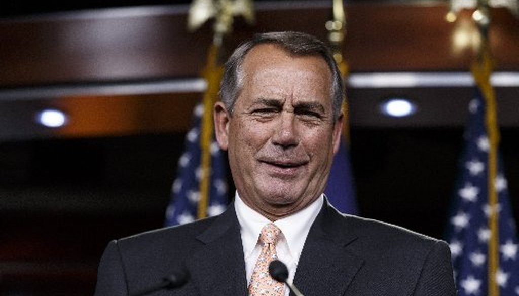 Speaker John Boehner's '22 times' has been echoed per President Obama (Associated Press photo, J. Scott Applewhite).