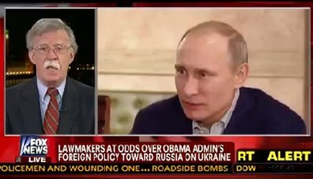 John Bolton, a former U.S. representative to the United Nations, brought up an old quote from Russian President Vladimir Putin in an attempt to describe Putin's thinking.