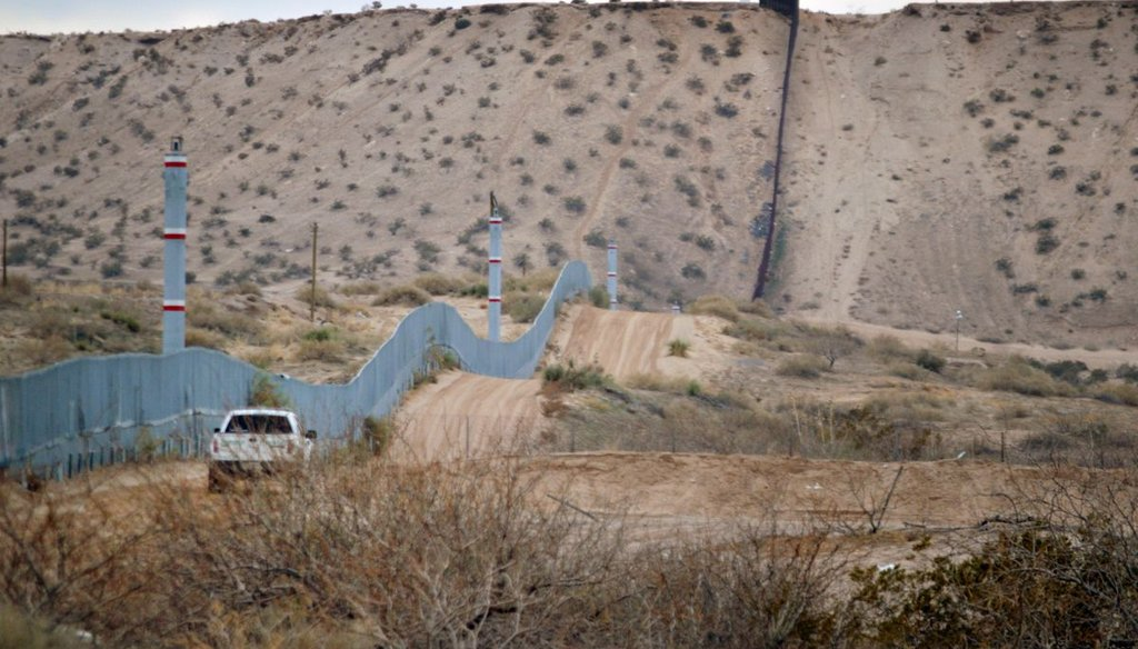 In this Jan. 4, 2016 file photo, a U.S. Border Patrol agent drives near the U.S.-Mexico border fence in Sunland Park, N.M. (AP)