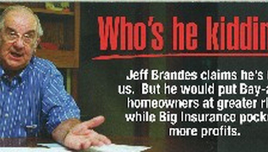 A third-party group is targeting St. Petersburg Rep. Jeff Brandes.