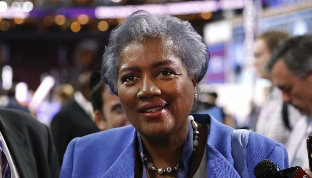 Donna Brazile, former interim chairwoman of the Democratic National Committee, has written a book about her time managing the party. (AP photo)