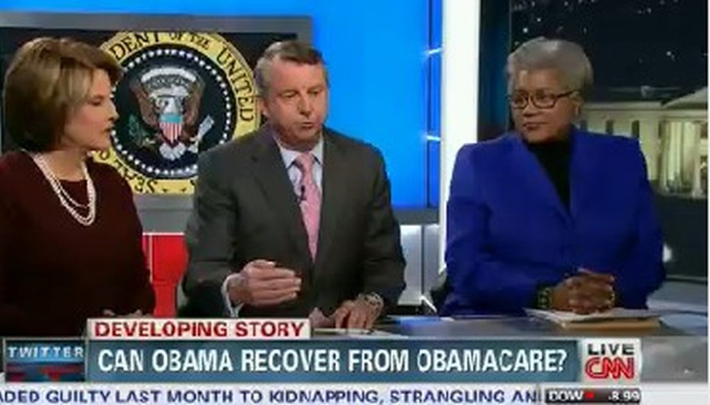 """Democratic pundit Donna Brazile discussed the health care law on CNN's """"Situation Room."""""""