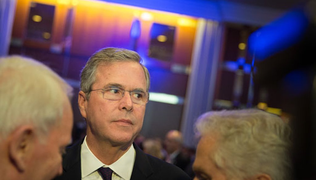 Former Gov. Jeb Bush at the CDU Economics Conference of the Economic Council in Berlin on June 9, 2015. (Getty Images)