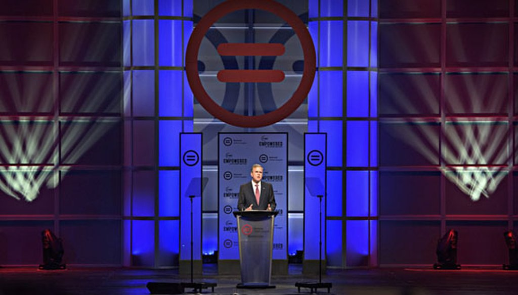GOP presidential candidate Jeb Bush speaks at the National Urban League Conference in Fort Lauderdale on July 31, 2015. (New York Times photo)