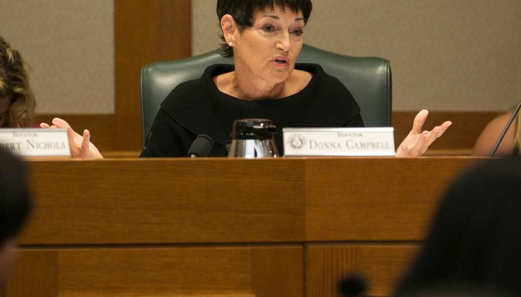 Texas State Sen. Donna Campbell, R-New Braunfels, said local government debt in Texas has increased by 40% in five years. Is that true? (DEBORAH CANNON / AMERICAN-STATESMAN)