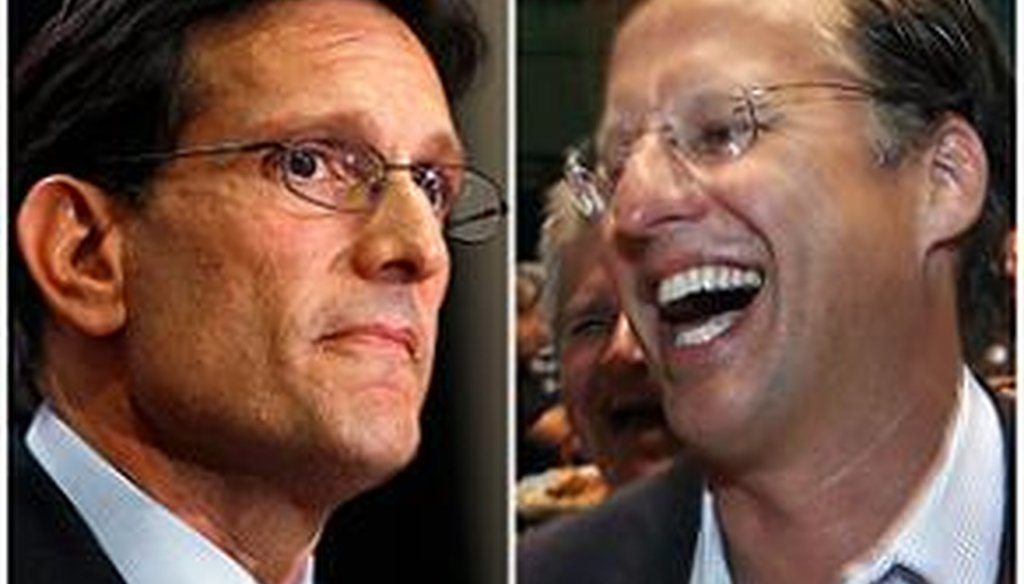 House Majority Leader Eric Cantor, R-Va., left, lost a primary election to David Brat, a relatively unknown economics professor on June 10, 2014.
