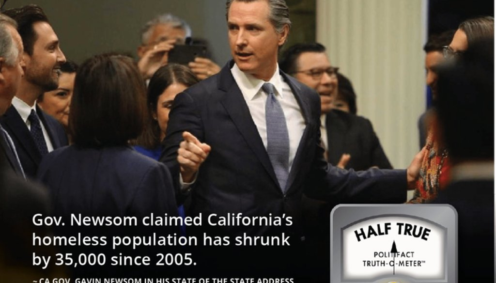 "Democratic Gov. Gavin Newsom said California's homelessness crisis ""has persisted for decades"" and made a claim that suggests it was worse 15 years ago."