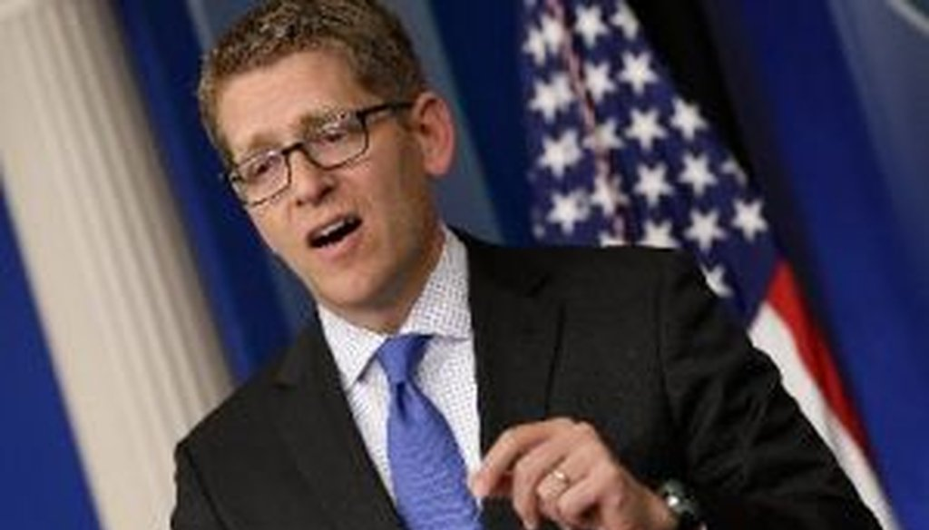 White House press secretary Jay Carney answered tough questions about the 2012 terrorist attack in Benghazi during a May 10, 2013, briefing.