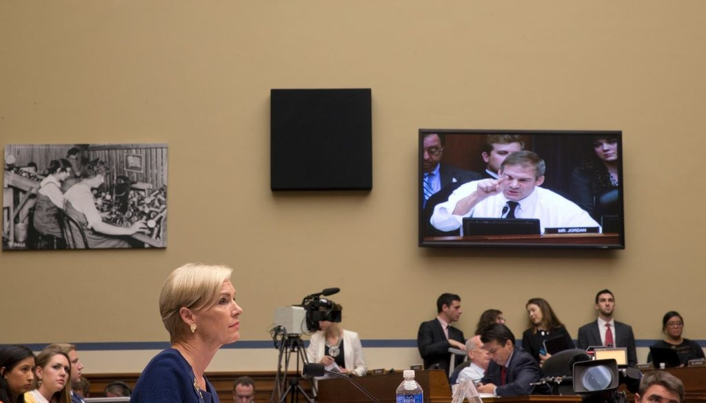 Cecile Richards, the president of Planned Parenthood, appears before the House Oversight and Government Reform Committee Sept. 29, 2015. (Stephen Crowley/The New York Times)