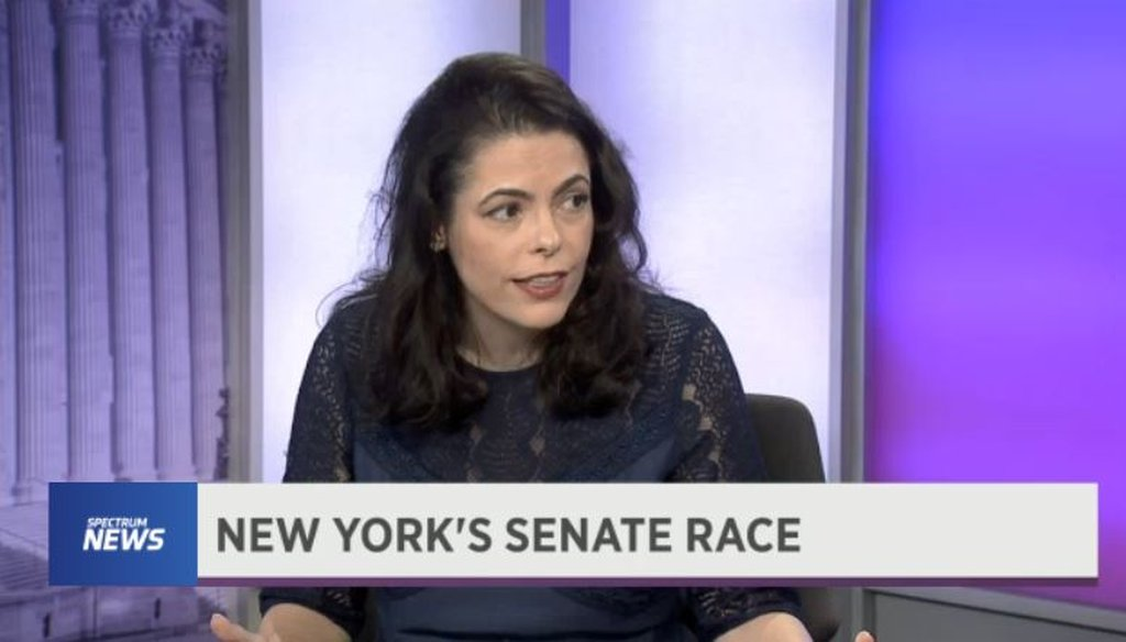 Chele Farley, Republican candidate for U.S. Senate, claimed Sen. Kirsten Gillibrand has not passed a bill into law since first being elected to Congress in 2006. (Spectrum News)