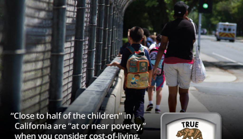 A July 2018 report found 45.8 percent of children in California live at or near poverty / Capital Public Radio file photo.