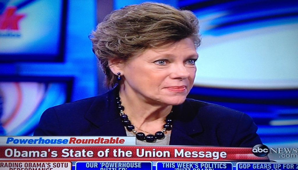 "Cokie Roberts appeared on ABC's ""This Week"" Jan. 25, 2015."
