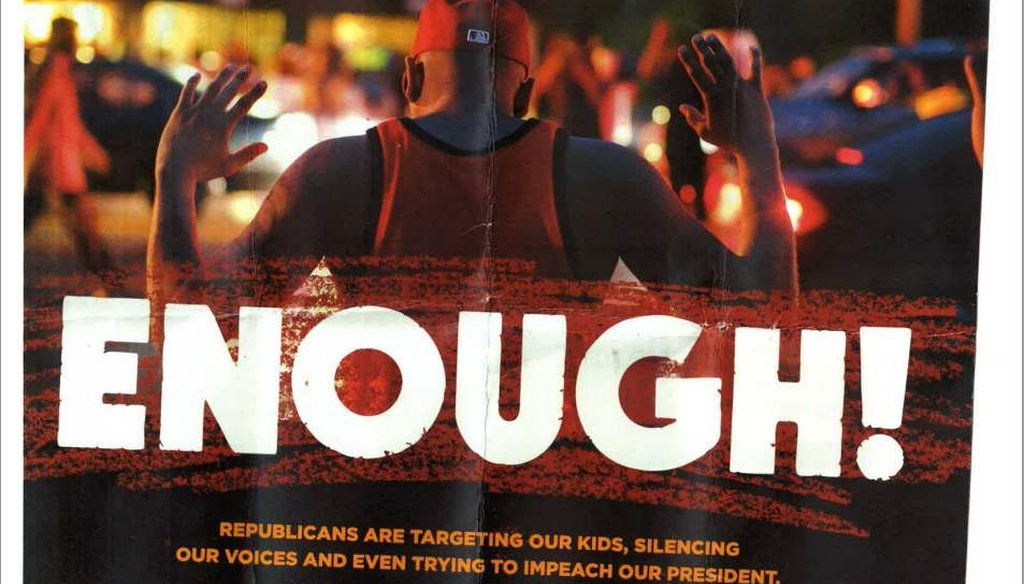 Civil rights group Color of Change mailed out this flyer in Arkansas, urging people to vote for Democrats.
