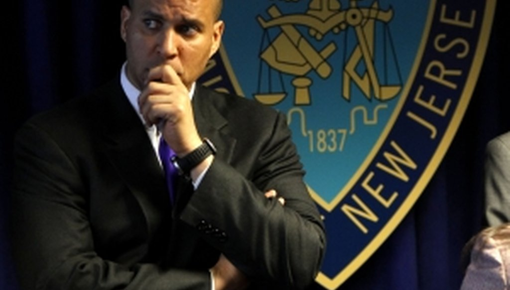 Newark Mayor Cory Booker claims the city led the country in reducing shootings and murders during his first term in office.
