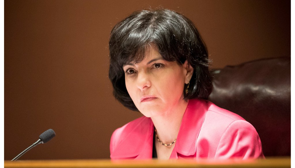 Chairperson Christi Craddick of the Texas Railroad Commission at a commission meeting on Tuesday May 22, 2018. JAY JANNER / AMERICAN-STATESMAN